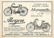 Y2951 Moto ALCYONETTE & ALCYON - Bicicletta a motore - Pubblicità del 1923 - Ad