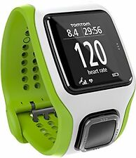 TomTom Runner Cardio GPS HR Watch - green/white, one size