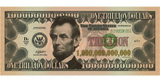 Want to be a Trillionaire? Trillion Dollar bill x 3