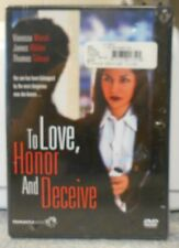 To Love, Honor And Deceive (DVD, 2007) RARE VANESSA MARCIL CRIME THRILLER NEW