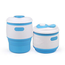 Camping Portable Retractable Telescopic Coffee Cup Cover Silicone Folding Cup