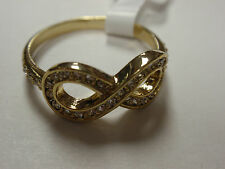 "Park Lane Jewelry, ""INFINITE"" Ring S-9, Goldtone ""E"" Red Carpet,  New!!!"