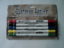 TIM HOLTZ DISTRESS MARKERS COUNTY FAIR PACK OF 5 BNIP  *LOOK*