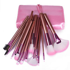 New Professional 22pcs Soft Cosmetic  Makeup Brush Set + Pouch Bag Case vc Pink