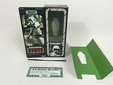 """custom Vintage Star wars rotj 12"""" biker scout box + inserts"""
