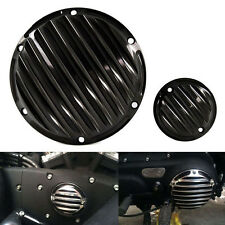 Black Finned Derby Timing Timer Cover For Harley Sportster Iron 883 1200 48