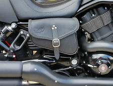 LEATHER BAG RIGHT FOR HARLEY DAVIDSON V ROD NIGHT ROD - ENDS CUOIO