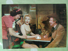 80s MARILYN MONROE POSTCARD 1956 Bus Stop scene sitting in cafe