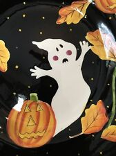 Laurie Gates Ware Square Halloween Jack O Lantern Ghost Serving Dish Platter