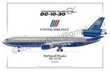 DC-10 United Airlines - Aircraft Poster Profile