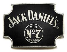 Jack Daniel's boucle de ceinture ancienne No.7 matt black curved cross licence officielle