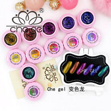 6 Colors 3g Glitter Shiny Change Colors Che Gel UV LED Soak Off Nail Art Polish