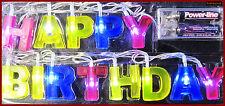 LED HAPPY BIRTHDAY LICHTERKETTE - GEBURTSTAG LICHTERKETTE - LEUCHTKETTE GIRLAND