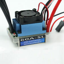 60A Sensorless V2 T Plug Brushless ESC Speed Controller for RC 1/10 1/12 car USA