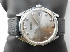 Rare Vintage Stainless Steel Japan Made SEIKO Analog Mens HandWinding WristWatch