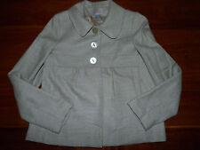 CYRILLUS, VESTE de tailleur PALETOT drap de laine 52% gris beige FEMME taille 36