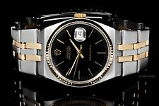 Rolex Stainless Steel & Yellow Gold Oyster Quartz 17013, Black Index Dial