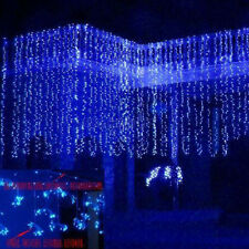 300 LED Door Curtain String Fairy Lights Xmas Wedding Party Decor 110V Blue HOT