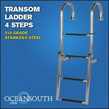 TRANSOM LADDER STAINLESS STEEL  FOLDING 4 STEPS