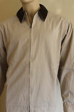 Mens PGA Tour Partners Club Casual Country Jacket  Beige Brown Collar XL Cotton
