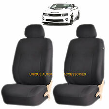CHEVY IMPALA MALIBU BLACK ELEGANT AIRBAG COMPATIBLE FRONT LOWBACK SEAT COVERS