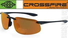 Crossfire ES4 2.5 HD Bronze Bifocal Reading Magnifier Safety Glasses Sun Z87+