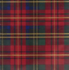 """RED PLAID HEAVY EMBOSSED GIFT WRAPPING PAPER -Large 26""""x 25' Roll"""