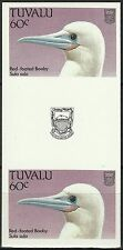 Tuvalu Gannet  Red-footed Booby Birds Seabirds Imperforated Gutter Pair ** 1988
