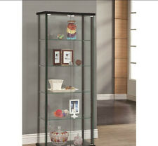 Large Curio Cabinet with Glass Doors Display Case 5 Shelves Showcase Storage