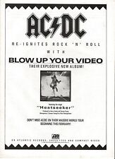 AC/DC Blow Up Video UK magazine ADVERT / mini Poster 11x8 inches