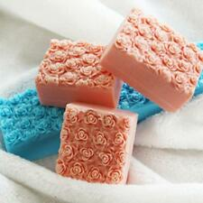 Rose Flower Silicone Soap Molds Rectangle Soap Mold Loaf Cake Tools Chocolate!!