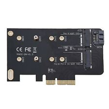 2 slots M key M.2 NGFF SSD to PCI-E X4 adapter B key M.2 NGFF SSD to SATA ada...
