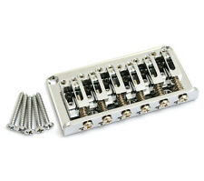 Gotoh Chrome 12-string Adjustable Saddle Hardtail Guitar Bridge SB-5108-010