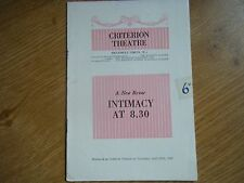 Programme A New Revue, Intimacy at 8.30, April 29th 1954, Criterion Theatre, Ldn