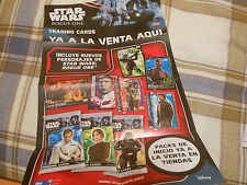 POSTER CARTEL ROGUE ONE STAR WARS SPAIN SPANISH PROMO CARDS TOPPS CROMOS RARE