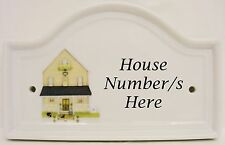 Mayfair Yellow House Door Number Plaque Ceramic House Sign Door Any No Available