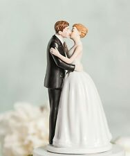 'NEW' Romantic Kissing Couple Wedding Cake Topper Figurine