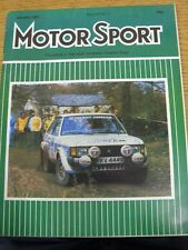 Jan-1981 Motor Sport Magazine: Weekly Motoring Newspaper Vol  LVII No.1 - Outsta