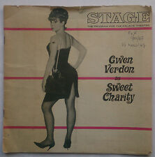 STAGE MAGAZINE PROGRAMME.PALACE NEW YORK.SWEET CHARITY.GWEN VERNON.VOL 2-NO 3 67