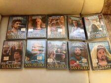 10 DVD LA BIBBIA collezione San Pietro, SanPaolo, Abramo, Geremia, Ester, Davide