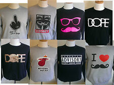 6 MIXED COLOUR Funny Rude Gift Assorted SIZES UNISEX SWEATSHIRT JOBLOT CAR BOOT