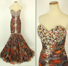 New Genuine Jovani 5471 Brown Mermaid Strapless Prom Evening Gown 4