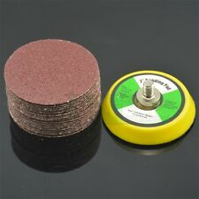 60PC 2Inch Sander Disc Sanding pad Polishing pad + M6X1 Hook&Look Backer Plate