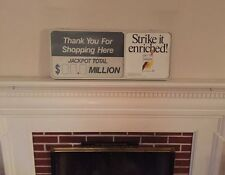 Vintage Gas Station Cigarettes and Dry Erase Lottery Sign, Great Shape!