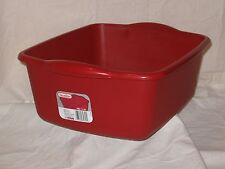 Irregular Red Kitchen Sterilite 12 Qt Plastic Sink Dish Pan Wash Tub Laundry