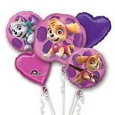 Paw Patrol Girl PUPS SKYE & EVEREST Foil Balloon Bouquet Birthday Party Supplies