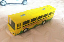 1 pcs Alloy Bus Model Pull Back Vehicles Kids Toy Car Big Bus 1:64-Yellow