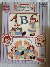 Designs by Gloria & Pat Raggedy Ann & Andy counted cross stitch book 15 designs