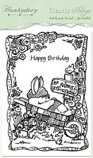 HUNKYDORY Clear Stamps PATCHWORK FOREST Mr Rabbit A6 Acrylic HAPPY BIRTHDAY