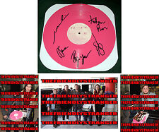 OF MONSTERS AND MEN signed MY HEAD IS AN ANIMAL Pink VINYL Record LP Proof - COA
